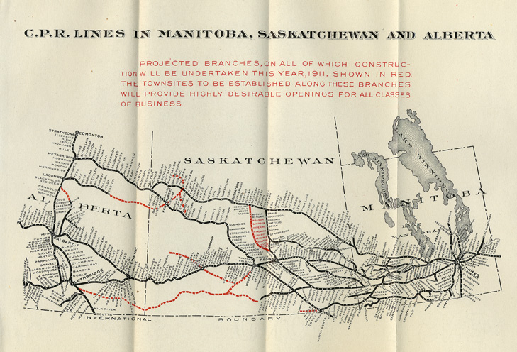 Carte Canada Manitoba.Railways And Immigration To Canada