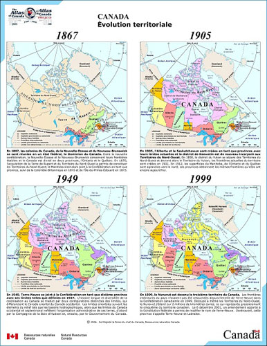 Map Of Canada 1905.Important Figures